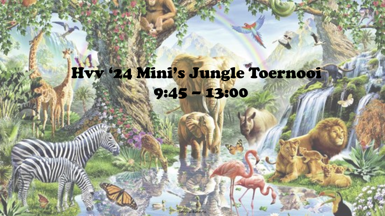 Jungle toernooi zaterdag 5 juni voor JO6-7