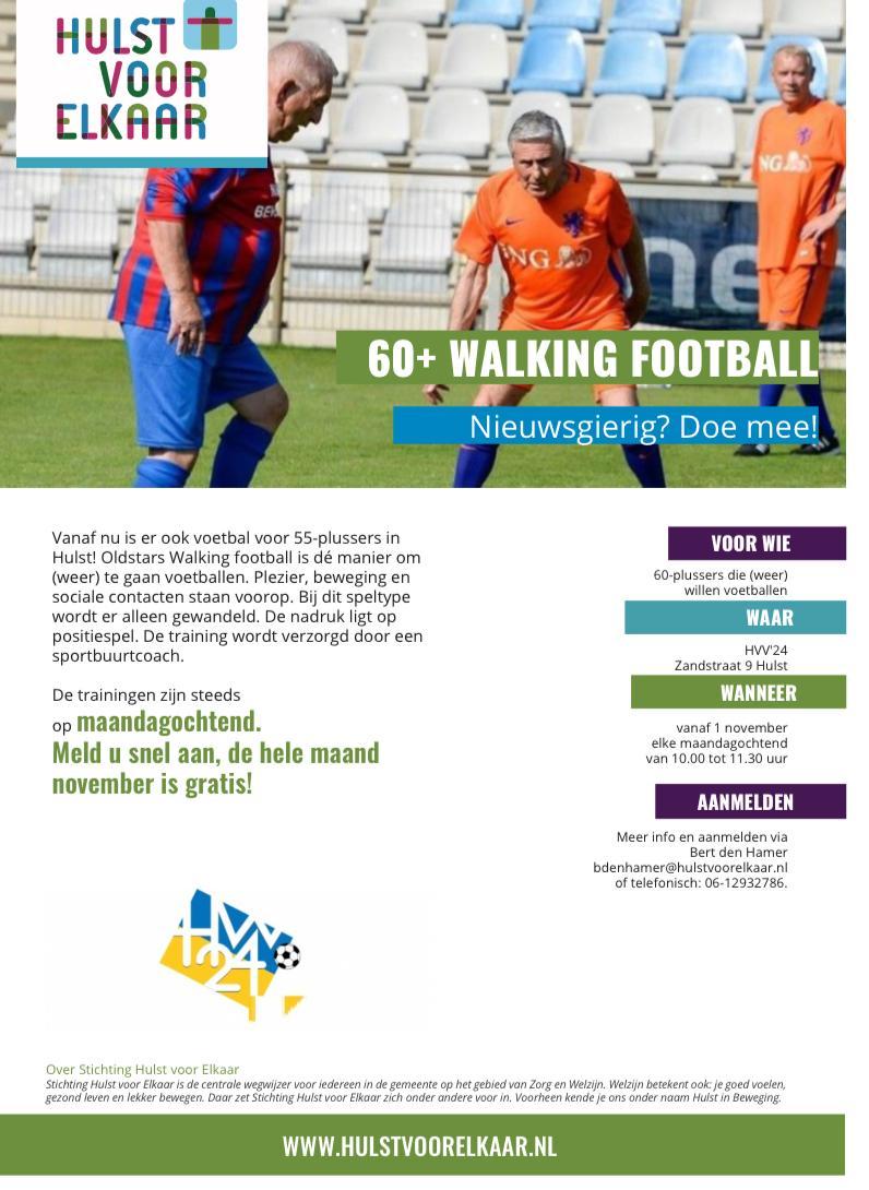 Doe mee aan Oldstars Walking Football